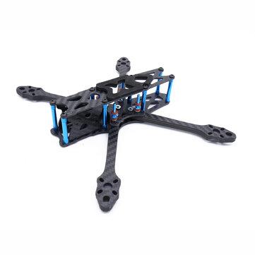 Original Strech X5 Freestyle 220 mm Distancia entre ejes 5,5 mm Brazo 5 Inch FPV Racing Frame Kit 108g 30.5×30.5 / 20x20mm para RC Drone