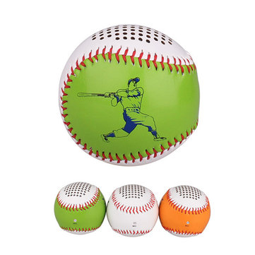 AOSDER Outdoor Portable Baseball Style TF Card Wireless Bluetooth Speaker with Mic for iPhone Xiaomi