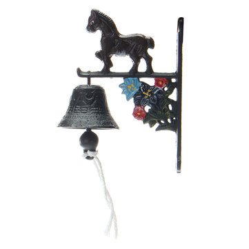 Rusted Horse Cast Iron Doorbell Wall Mounted Decoration Vintage Style