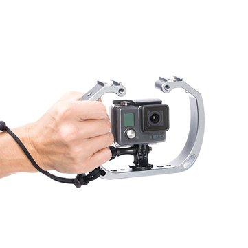Universal Camera Cages 1/4 3/8 Screw Hole Mount Holder For Tripod GoPro Underwater Shooting SK-GHA6