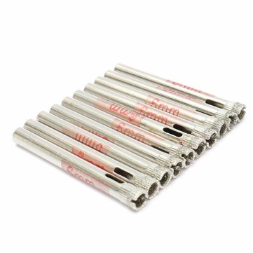 10pcs 6mm Diamond Hole Saw Drill for Glass Ceramic Marble