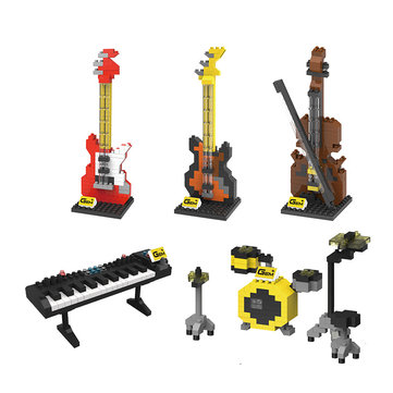 Penrose Small Particles Diamond Micro-building Blocks Toys Cartoon Musical Instrument Model