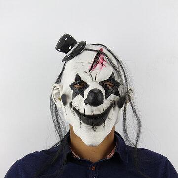 할로윈 무서운 광대 마스크 라텍스 테러 성인 전체 얼굴 유령 마스크 할로윈 소품