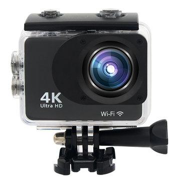 XANES K2T 4K 1080P Wifi 2.0 Сенсорный экран 16 миллионов пикселей 170 ° Широкоугольный спорт камера WDR Wide Dynamic 30M Водонепроницаемы Ударопроч