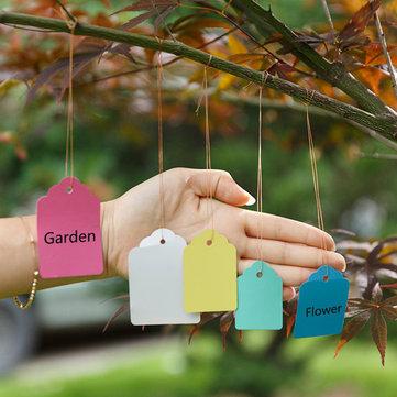 50pcs 원 예 식물 방수 교수형 태그 꽃 야채 심기 레이블 도구