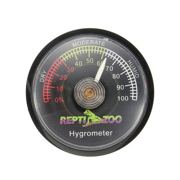 Reptile Tortoise Vivarium Terrarium Hygrometer Humidity Meter with Colour Codes