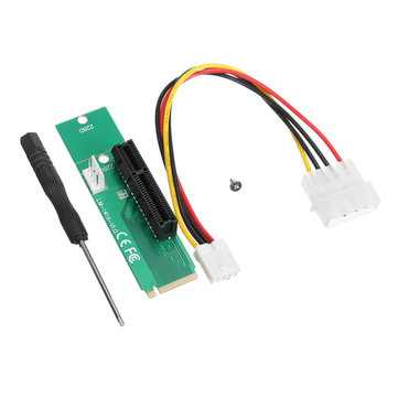 PCIE PCI-E Express 1X/4x Female to NGFF M.2 M Male Adapter Key Power Cable