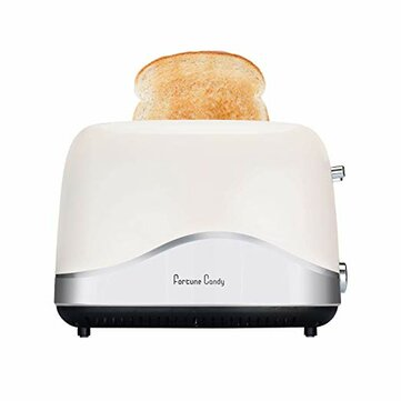 120V 850W Fortune Candy Toaster 2 Slice Stainless Steel Toasted Breads with High Lift Lever Wide Slot Bread Toaster with Pop Up and Adjustable Temperature Control US plug
