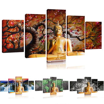 No Frame BUDDHA Modern Wall Decor Art Oil Painting On Canvas Abstract Large SET