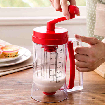Manual Pan Cake Batter Dispenser Cup Cake Baking Essentials Cake Batter Kitchen Tools