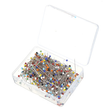 500pcs Glass Pearlized Head Pins Multicolor Sewing Pin for DIY Sewing Crafts Sewing Accessory