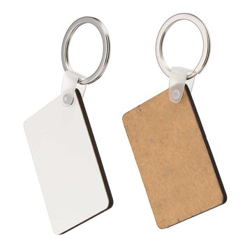 10x Rectangle Blank MDF Board Key Ring Heat Transfer Printing Key Rings For Heat Press Machine