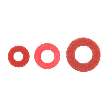 100Pcs Steel Pad Insulation Washer Red Steel Paper Spacer Insulating Spacers Set Meson Gasket