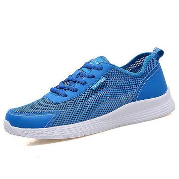 Большие размеры Мужчины вскользь Breathable Hollow Outs Спортивная обувь
