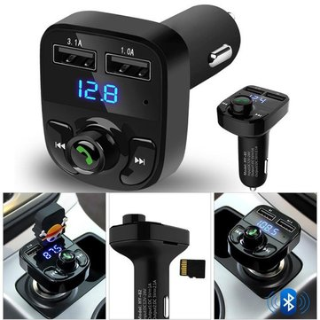 12-24V 2 USB Car Kit Wireless TF Card U Disk Bluetooth Music LCD MP3 FM Transmitter Car Charger