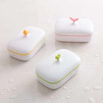 Home Bathroom Cute Double-deck Draining Hollow Out Design Layer Design Soap Storage Box Soap Box