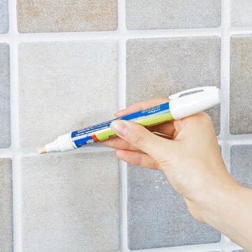 Grout Aide Repair Tile Marker Water-resistant Odorless Ceramic Tile Repairing Pen with Reversible Nib