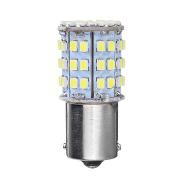 2pcs 12V 1156 BA15S White 64 SMD Car RV Tail Brake Light Bulbs Backup Reverse Lamp Bulb