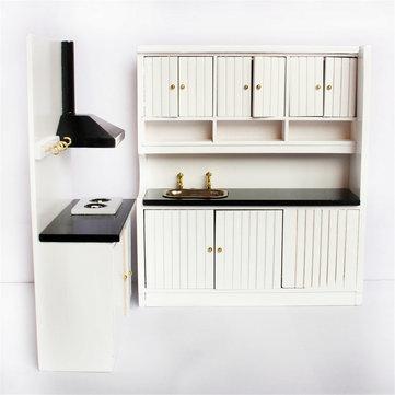 Doll House Miniature Kitchen Dollhouse Furniture Set 1 12 Scale