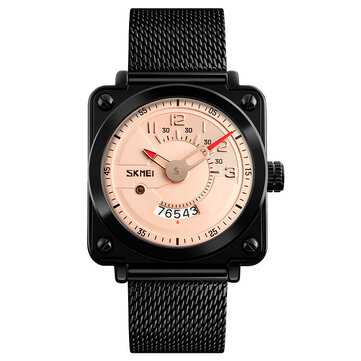 SKMEI 9172 Fashion Square Milanese Strap Men Quartz Watch
