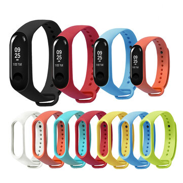 Bakeey Replacement Silicone Sports Soft Wrist Strap Bracelet Wristband for XIAOMI Mi Band 3