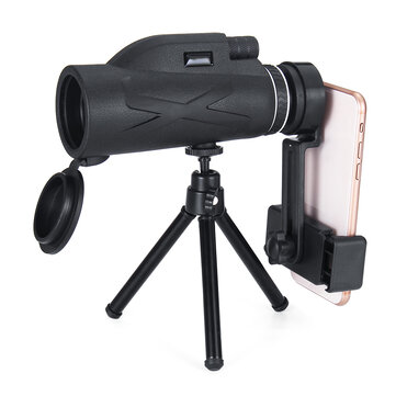 80x100 Magnification Portable Monocular Telescope Powerful Binoculars Zoom Great Handheld Telescope Military HD Professional Hunting