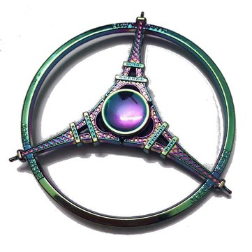 Zinc Alloy Round Tri Spinner Colorful Rotating Fidget Hand Spinner  ADHD Autism Reduce Stress Toys
