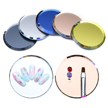 False Nail Tips Display Board Mirror Glass Color Palette Practice Manicure Nails Art Tool