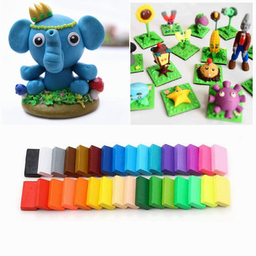 5 Tool+32Colour Oven Bake Polymer Clay Block Modelling Moulding Sculpey Tool Set