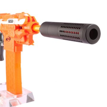 WORKER Suppressor Front Tube With Red Metal Barrel For Nerf Nstrike Elite Retaliator Toys Accessory