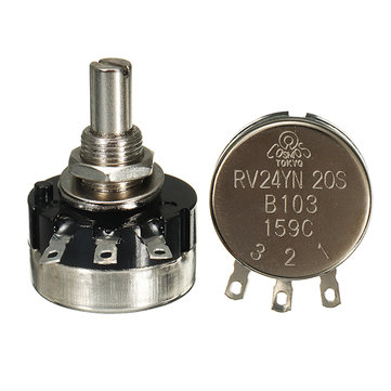 3pcs RV24YN20S B103 10K anneau simple film de carbone potentiomètre 2W 20000rpm