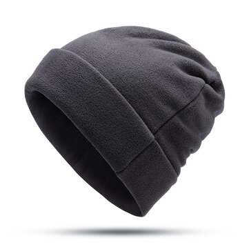 Outdoor Winter Thick Fleece Double Layers Beanie Hat
