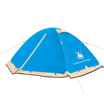 HUILINGYANG 2 People Outdoor Four-season Tents Rainproof Double Layer Camping Sunshade Canopy