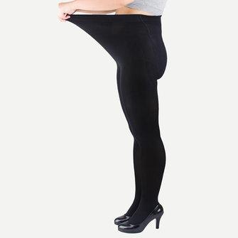 ผู้หญิงขนาดบวกผู้หญิงสูงบางกำมะหยี่บางยืดหยุ่น ถุงน่อง อบอุ่น ถุงน่อง