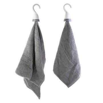 2Pcs Portable Tea Towel Holder Wash Cloth Clip Dish Towel Hook Hanging for Bathroom Shower