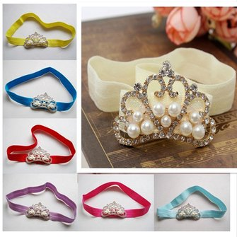 Baby Girls Princess Tiara Photography Props Pearl Rhinestone Crown Headbrands