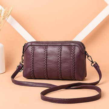 Women Vintage Soft Faux Leather Crossbody Bag
