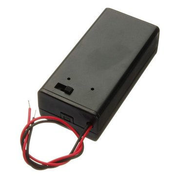 5Pcs 9V Battery Box Pack Holder With ON/OFF Power Switch Toggle Black