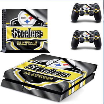 Fantasy Game Theme Sticker Decal Skin for Play Station 4 PS4 Console Controller Pittsburgh Steelers