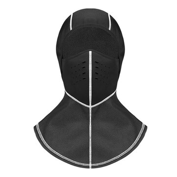 Men Winter Sports Black Mask Waterproof Windproof Skiing Hat