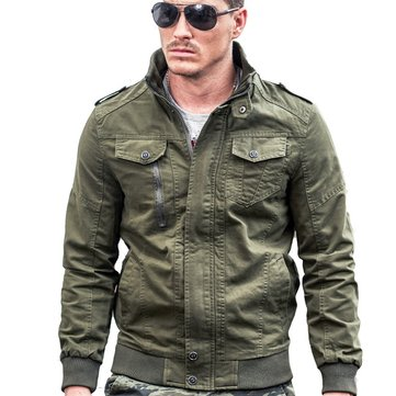 Epualet Tactical Military Washed Cotton Plus Size XS-4XL Outdoor Work Autumn Casual Jacket for Men