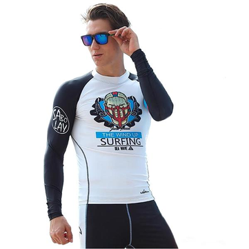 Men Diving Suit shirts Tops Long Sleeve Swimwear Waterproof Quick Drying Clothing Surfing Snorke