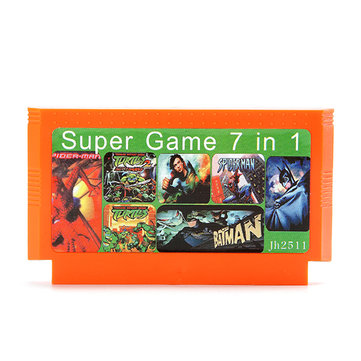 7 in 1 8 Bit Game Cartridge Spider Man Batman Ninja Turtles Superman for NES Nintendo