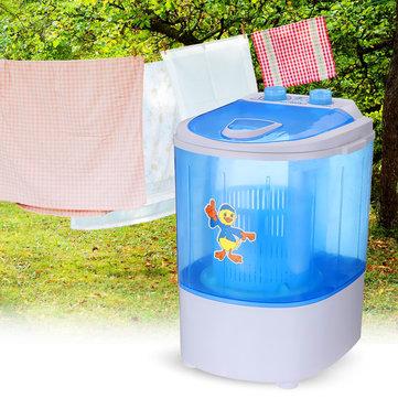 Mini Washing Machine Semi-automatic Single-barrel Washer Prevent Winding Wave Wheel Laundry Product for Bathroom