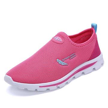 Женщины Mesh Повседневный спорт Запуск Открытый скольжения на обувь