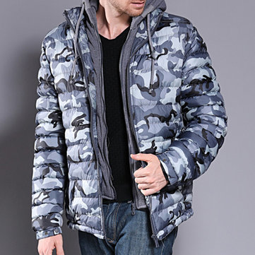 Mens Winter Camouflage Thicken Jacket Waterproof Coat