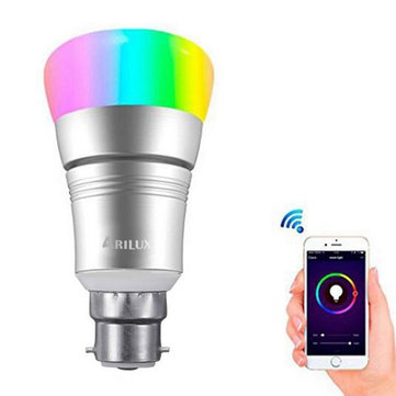ARILUX® B22 7W RGBW SMD5730 WIFI APP Control LED Smart Light Bulb Work With Amazon Alexa AC85-265V