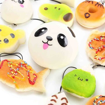 15PCS Random Soft Cute Phone Charms Strap For Cell Phone