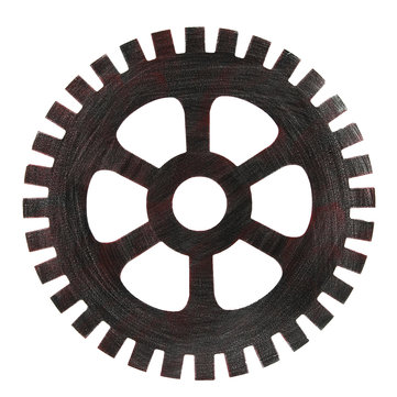 41cm Industrial Wood Wooden Gear Vintage Retro Art Bar Cafe Wall Hanging Decoration