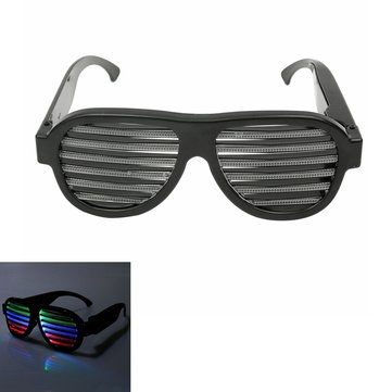 Sound Control LED Flashing Glasses Party Bar Fashion Sunglassess Eyewear Goggles
